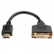 Адаптер для видео кабеля HDMI - DVI-D, 20 см (Черный)
