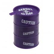 Слайм лизун антистресс жвачка для рук Barrel O Slime в канистре (Фиолетовый)