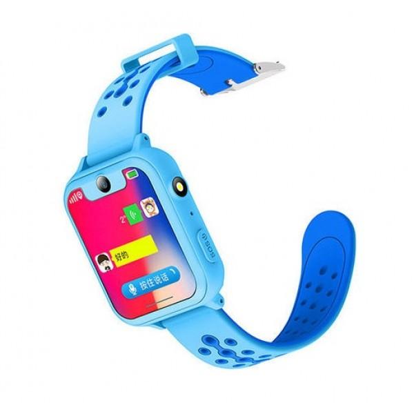 Детские умные часы Smart Baby Watch X с камерой (Синие)
