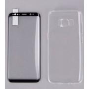 Защитное стекло и чехол REMAX Crystal для Samsung S8 (Черный)
