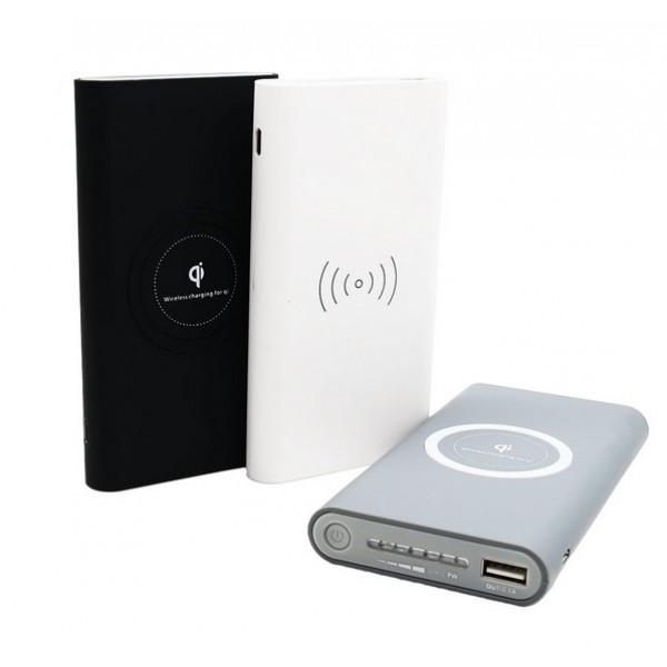 Qi PowerBank Wireless с функцией беспроводной собственной зарядки 10000 мАч (Серый)