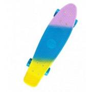 Скейт Cruiser принт печать мини (Розово-сине-желтый)