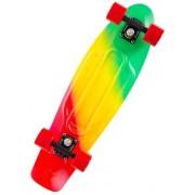Скейт Cruiser принт печать мини (Зелено-желто-красный)