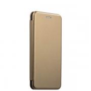Чехол-книжка для Xiaomi Redmi Note 4X с магнитами, с визитницей и подставкой (Золотой)