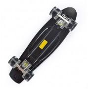 Скейт Cruiser со светящимися колесами (Черный)
