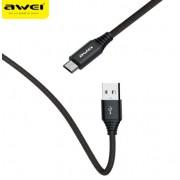 Дата кабель Awei CL-54 Lightning Fast Charge 1,2м 2,4А (черный)