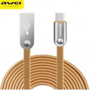 Дата кабель Awei CL-19 Type-C Smart Fast 2м 2,4А (золотистый)