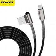 Дата кабель Awei CL-23 Type-C L Type Data Cable 2м 2,4А (черный)