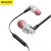 Наушники проводные Awei ES-10TY с микрофоном (серый)
