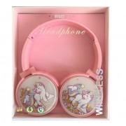 Наушники детские BT002 в стиле Единорог (розовый)