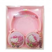 Наушники детские BT002 в стиле Китти (розовый)