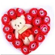 Набор FL-004 Мыло ароматизированное + игрушка I Love You (красный)