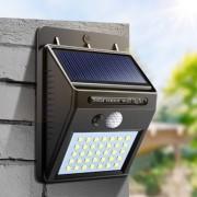 Уличный светильник на солнечной батареи Solar Interaction Wall Lamp (Черный)