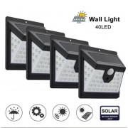 Уличный cветильник на солнечной батареи 40 Solar Motion Sensor Light (Черный)