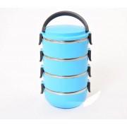 Ланч бокс термоконтейнер Lunch Box 4 яруса 2,8 л (голубой)