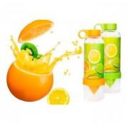 Бутылка с соковыжималкой Citrus Zinger (зеленый)
