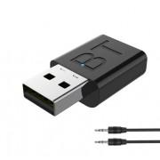Универсальный Bluetooth 5.0 адаптер 2 в 1 трансмиттер и ресивер BT189 (Черный)