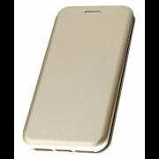 Чехол-книжка для LG Q8 с магнитами, с визитницей и подставкой (Золотой)