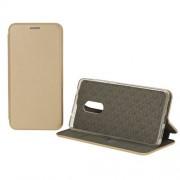 Чехол-книжка для Nokia 5 с магнитами, с визитницей и подставкой (Золотой)