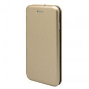 Чехол-книжка для Nokia 7 с магнитами, с визитницей и подставкой (Золотой)