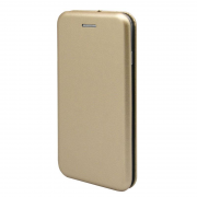 Чехол-книжка для Xiaomi Mi Note 3 2017 с магнитами, с визитницей и подставкой (Золотой)