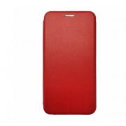 Чехол-книжка для OnePlus 3 с магнитами, с визитницей и подставкой (Красный)