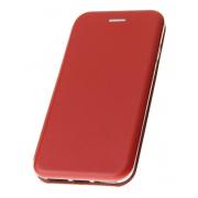Чехол-книжка для OPPO F5 с магнитами, с визитницей и подставкой (Красный)