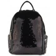 Женский рюкзак с блестками (черный)