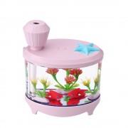 Увлажнитель воздуха Fish Tank Light Humidifier (розовый)