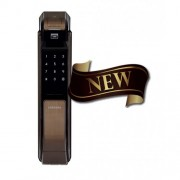 Врезной биометрический замок Samsung SHS-P718 XBU, EN (Коричневый)
