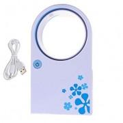 Вентилятор без лопастей Handheld Mini Air Conditioner No Leaf Fan Cooling Cooler (голубой)