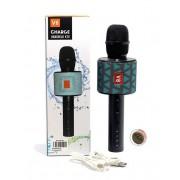 Караоке-микрофон Super Voice Wireless Microphone V8 (Голубой)