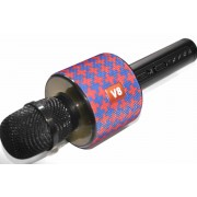 Караоке-микрофон Super Voice Wireless Microphone V8 (Синий)