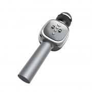 Беспроводной Bluetooth караоке микрофон HOCO BK4 (Серебристый)