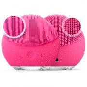Массажер Forever Luna mini 2 силиконовый для очищения лица с вибрацией ultra (розовый)