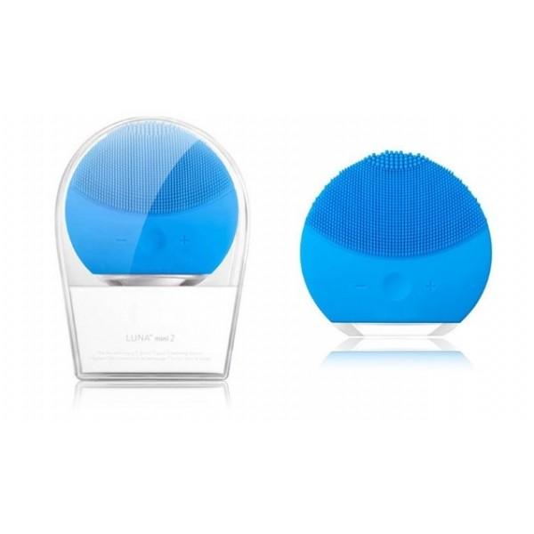 Массажер Forever Luna mini 2 силиконовый для очищения лица ultra вибрация (синий)