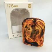 Беспроводные наушники TWS HBQ i7S bluetooth Fire (Черный-желтый)