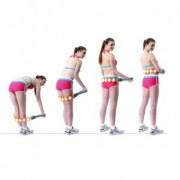 Роликовый ручной массажер-лента Massage Rope HX-8866 (розовый)