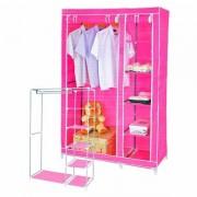 Складной тканевый шкаф Clothes Rail With Protective Cover 28109 (розовый)
