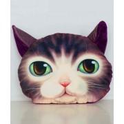 Подушка на подголовник 3D средняя Милая кошка (серый)