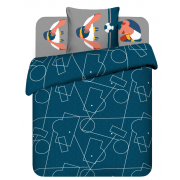 Комплект постельного белья Василиса бязь 7602/1 Моя команда Твой стиль 1,5 сп (синий)