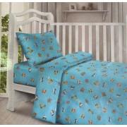 Детский комплект постельного белья Пупс Карапуз бязь вид 1 (голубой)