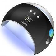 Ультрафиолетовая лампа для сушки ногтей LED+UV Lamp SUN 6 48W (черный)