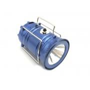 LED фонарь походный на солнечной батарее (синий)