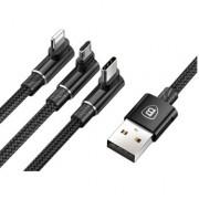 Кабель для iPhone Micro Type-C Baseus MVP 3-in-1 Mobile game Cable Black (черный)