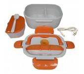 Ланч бокс с подогревом от сети контейнер для еды Electric Lunch Box (Оранжевый)