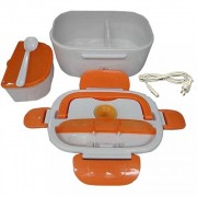 Ланч бокс с подогревом от сети контейнер для еды Car Electric Lunch Box (Оранжевый)