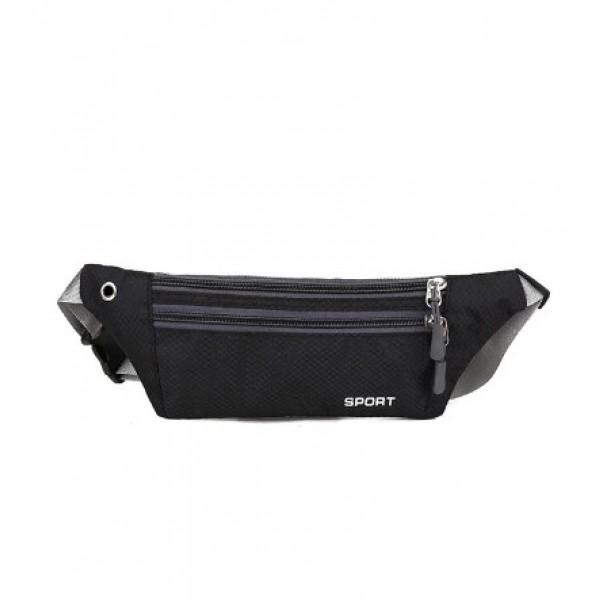 Спортивная сумка на пояс (черный)