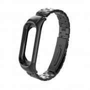 Металлический ремешок для Xiaomi Mi Band 3 Stainless (черный)