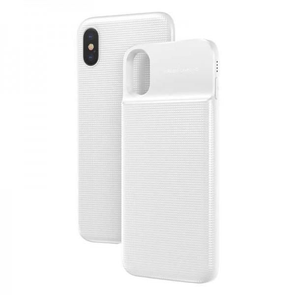 Чехол-аккумулятор Baseus Silicone Smart Backpack Power For iPhone XS-X ACAPIPH58-ABJ02 (Белый)